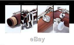 17 Key Handwork Wood B Flat Professional Musical instrument Clarinet #