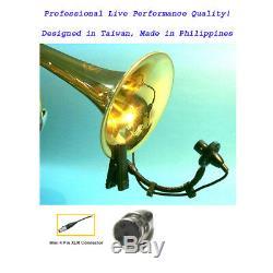 2pcs Instrument Mic Horns Saxophones Trumpet Tuba Drum Clarinet Shure TA4F