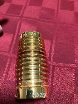 ACCUBORE B62 62mm GOLD PLATED BRASS RIBBED Bb CLARINET BARREL (BIN 1) DEG