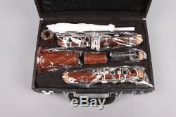 Advance B-Flat Clarinet Rosewood Wooden Body Nickel Plate Bb Key 17 key Case