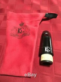 BG MODEL B0 HARD RUBBER Bb CLARINET MOUTHPIECE, HAND CRAFTED BY ZINNER