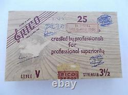 BOX OF 25 RICO Eb CONTRABASS CLARINET REEDS STYLE V STRENGTH # 3.5