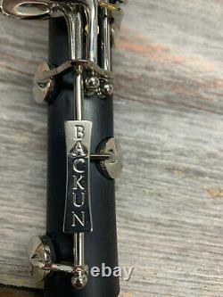 Backun Alpha Bb Clarinet Synthetic Authorized Dealer New