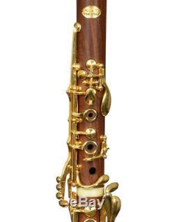 Bb Clarinet Sib Boehm FRENCH system Cocobolo wood Gold keys B flat NEW