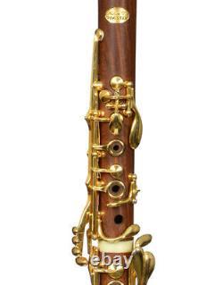 Bb Clarinet Sib Klarnet Boehm system Cocobolo wood Gold B flat NEW