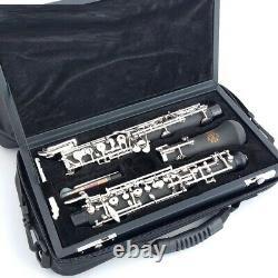 C Key Oboe Automatic Style Silver Plated Keys Clarinet Sib Bassoon Band Flute