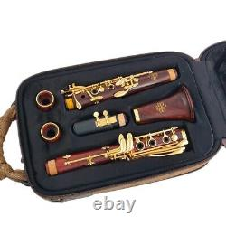 Cocobolo Clarinet Bb Red Wood Silver Plated 18 Keys Sib Bassoon Flute Instrument