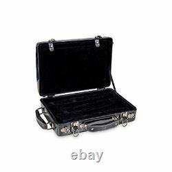 Crossrock Bb & A Double Clarinet Case with Music Sheet Compartment and Backpa