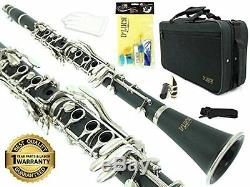 D'Luca 200 Series Black Bb Clarinet 17 Keys with 1 Year Manufacturer Warranty