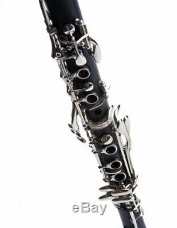 D'Luca Black Clarinet with Case, Mouthpiece and Reed
