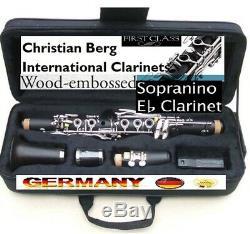 E-flat Eb Clarinet Clarinette Piccolo E-flat major mi bemol Es Klarinette