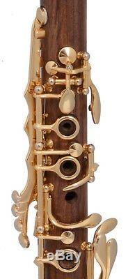 Eb Clarinet Mib Boehm FRENCH system Cocobolo wood Gold keys E flat NEW