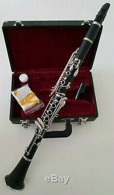 Intermusic Clarinet in Bb Brushed Black Student Hard Case Complete Outfit New