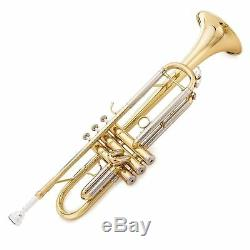 Jean Paul USA TR-330 Student Trumpet Key of Bb In Gold withCarry Case, Cloth &Oil