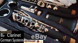 Klarinette deutsches System 21 Klappen Holzblasinstrument Wood embossed