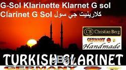 Klarnet G SOL Türk/Greek Sol Clarinett G-Klarinette Sol Clarinet et sol major