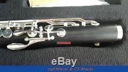 (Low C) Bass Clarinet Bb Key Grenadilla, Ebony wood Body, Keys silver plated