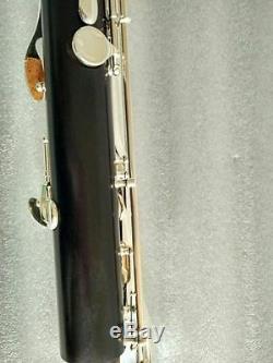 New (Low C) bass Clarinet kit ebony wood Body silver Plated