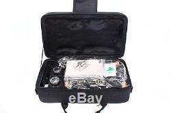 New Professional Clarinet Ebonite Body Nickel Plated Key Bb Key 17 key Case #7