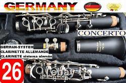 Pro Clarinet full system 26 Flaps German System Clarinette German