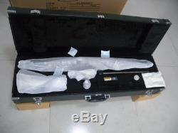 Professional Bass clarinet Low Eb Ebonite Wood With Clarinet Pads Case
