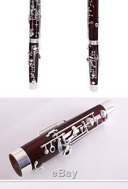 Professional C Tone Bassoon Cupronickel silver Key Maple body Bassoon