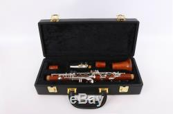 Professional Clarinet Rosewood E Key Clarinet Eb flat Clarinet Case 2 Barrels