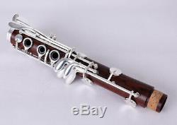 Professional Clarinet Tune B Rosewood Mahogany Clarinet Silver keys Solid wood