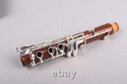 Professional Rosewood Clarinet Bb key Wooden Clarinet Silver Plated Key Case