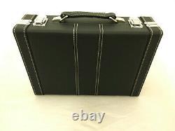 RCB Premium Bb Clarinet Case Black/Silver Fits Buffet R13, Yamaha, Selmer etc