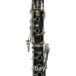 Rossetti 1150-CL Bb Student Clarinet Wood Grain Black with Mouthpiece and Case