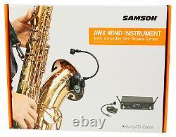 Samson Airline AWX Wireless Microphone Mic System 4 Saxophone, Trumpet, Clarinet