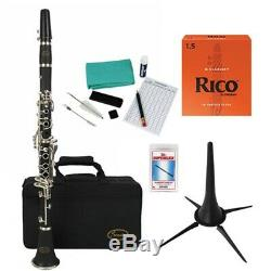 Sonata Bb Clarinet Beginner Pack with Stand, Reeds and Cleaning Care Kit