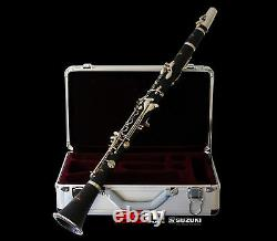 Suzuki Conertino Collection B Flat Clarinet With Copper Nickel Silver Plated