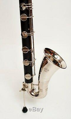 TEMPEST LOW C PRO BASS CLARINET HARD RUBBER SILVER PLATED KEYS 5 yr. WARRANTY