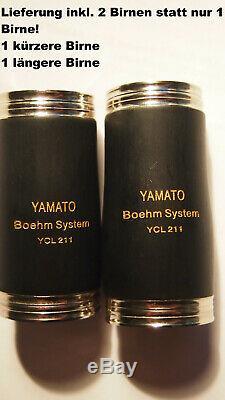 YAMA. Klarinette Böhm-System 2 Birnen Holzblasinstrument French Clarinet Boehm