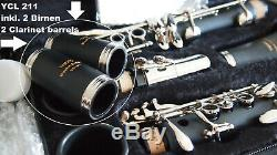 YAMA. YCL Klarinette Böhm-System 2 Birnen Holzblasinstrument aus Germany