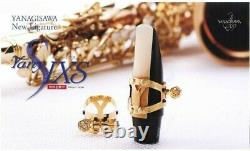 Yany SIXS Ligature for Ebonite (Reverse, Single Screw) Gold Plated Finish EMS
